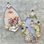 Spring Birde Pendant Resin Rhinestones DIY Mini Kit