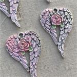 Gera Shabby Rose Angel Wing Charms