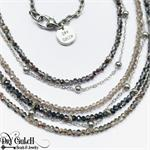 Multi Strand Crystal Handmade Necklace