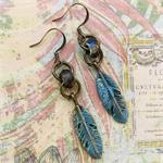 Feather Czech Simple Earrings DIY Jewelry Project